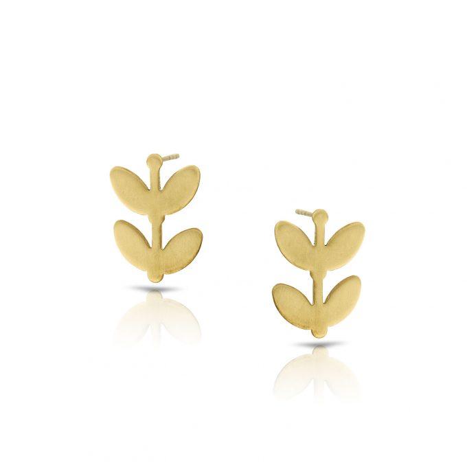 brass flower studs