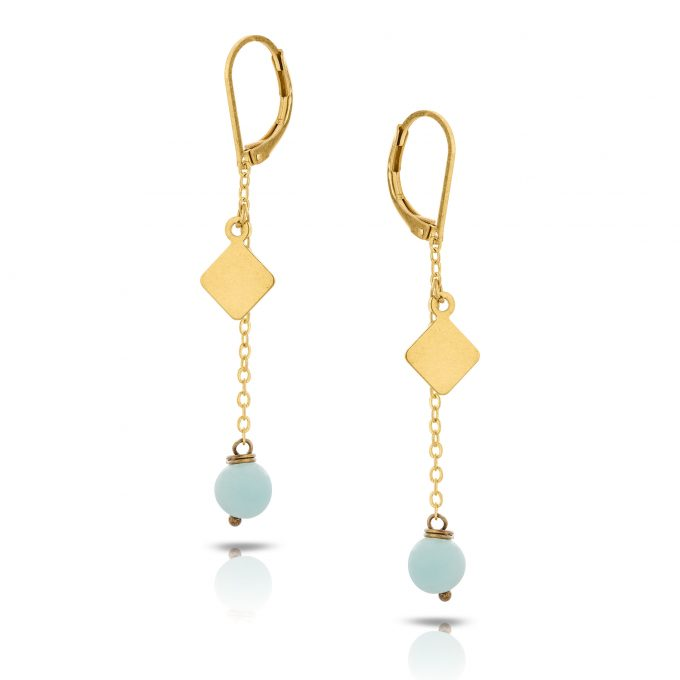 gemstone square dangle (mintBlue)