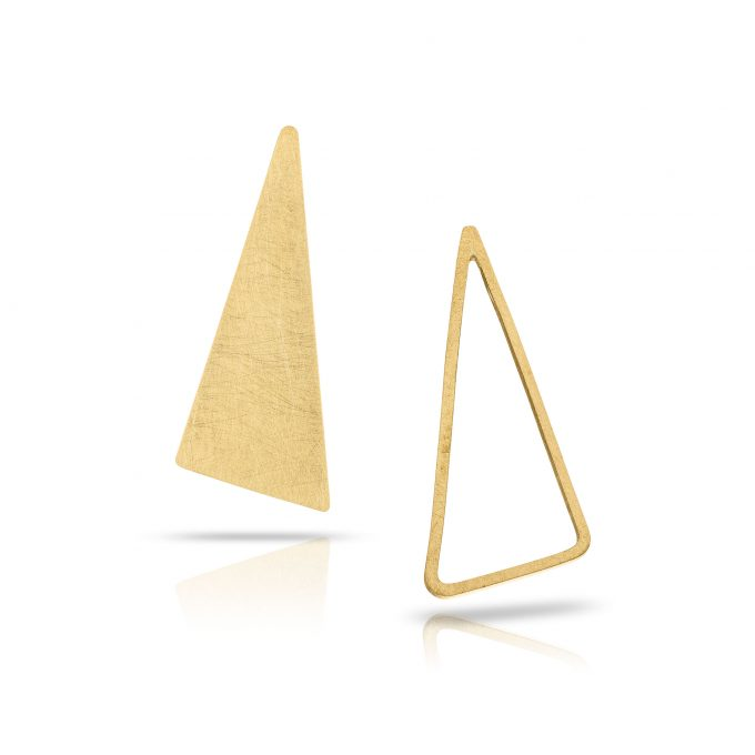 open|close triangle stud
