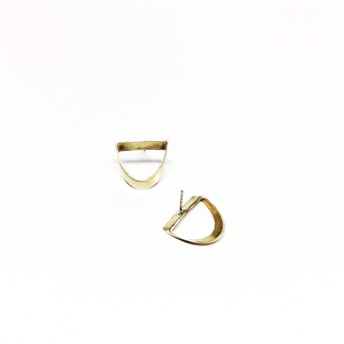 Open brass studs small