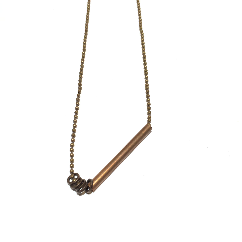 short tube necklace - copper