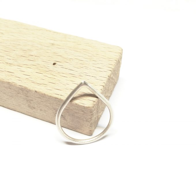 Minimal sterling silver ring