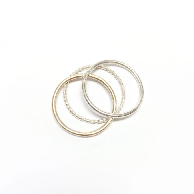 Minimal ring set• sterling silver